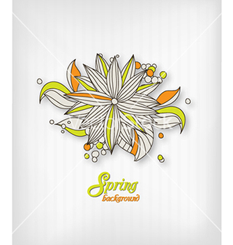 Free floral background vector - Free vector #240095