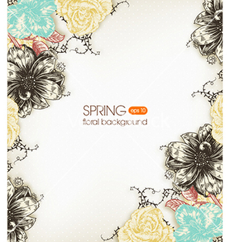 Free floral background vector - Free vector #240115