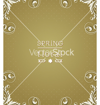 Free floral background vector - Free vector #240145