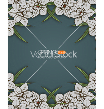Free floral background vector - Free vector #240235