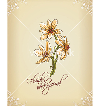 Free floral background vector - Free vector #240275