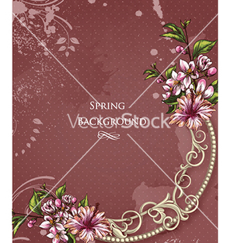 Free floral background vector - Free vector #240285