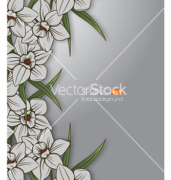 Free floral background vector - Free vector #240405