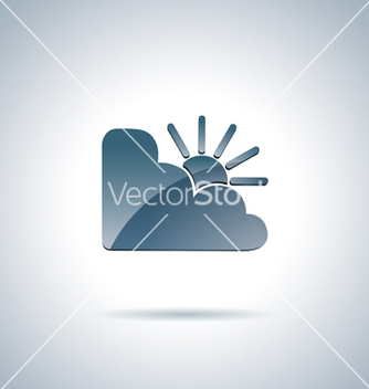 Free cloud and sun icon vector - Free vector #240725