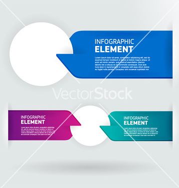 Free modern number list infographic banner vector - Free vector #240735