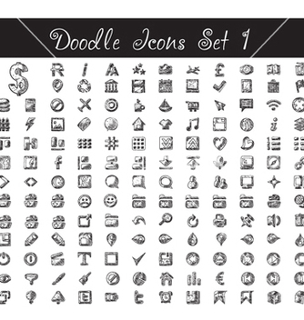 Free doodle icons set vector - Free vector #240745
