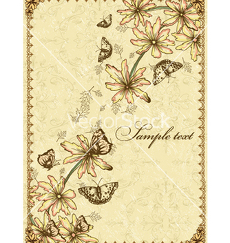 Free vintage floral background vector - Free vector #240765