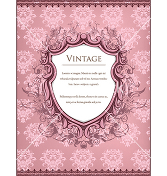 Free vintage frame with floral vector - Kostenloses vector #240955