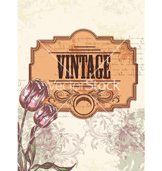 Free vintage floral background vector - Free vector #240995