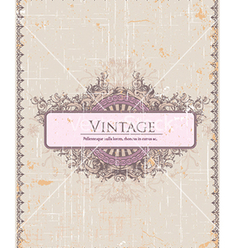 Free vintage frame with floral vector - Free vector #241025