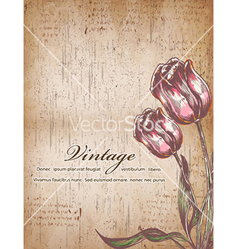 Free vintage floral background vector - Free vector #241055