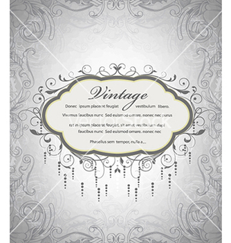 Free vintage frame with floral vector - Kostenloses vector #241085
