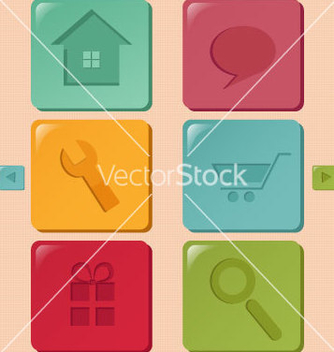 Free colorful icons vector - Free vector #241135