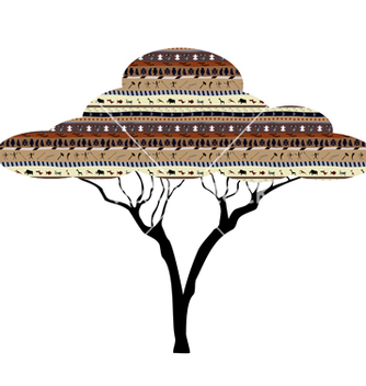 Free abstract tree african savanna vector - vector #241165 gratis