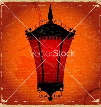 Free vintage card with a picture of red light vector - vector gratuit #241185