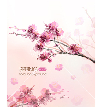 Free floral background vector - Free vector #241545