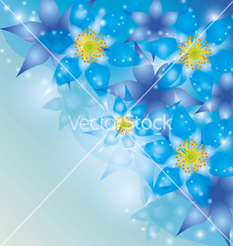 Free abstract background with exotic flowers blue vector - Free vector #241835