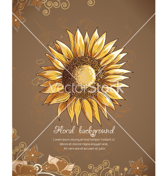 Free floral background vector - Free vector #241985