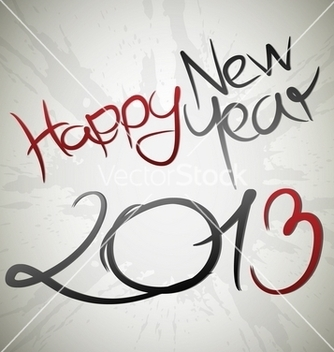 Free happy new year 2013 card vector - Kostenloses vector #242215