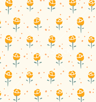 Free little roses pattern vector - vector #242235 gratis
