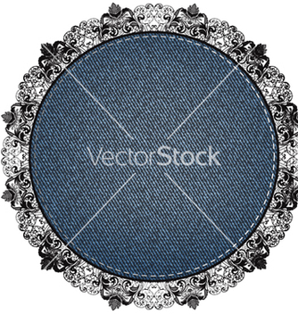 Free lace denim vector - бесплатный vector #242575