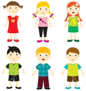 Free happy kids vector - vector #242585 gratis