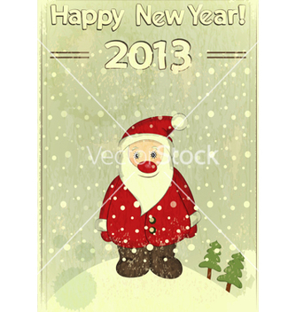Free christmas cards with santa claus vector - vector gratuit #242705