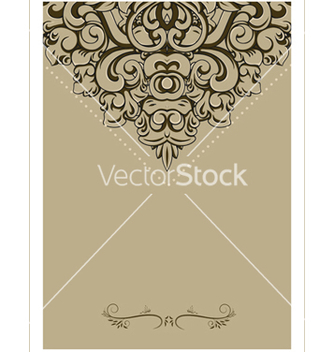 Free vintage background with frame vector - vector #242815 gratis
