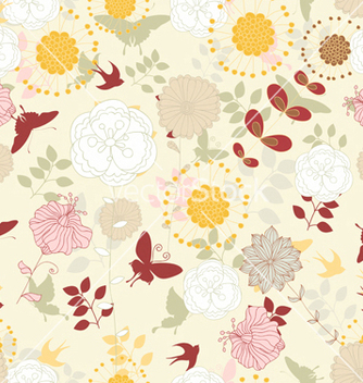 Free seamless paisley pattern vector - Free vector #242855