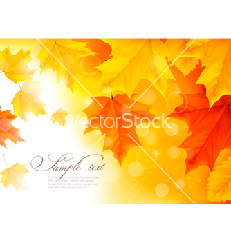 Free autumn background with gold and red leaves vector - бесплатный vector #243005