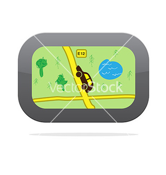 Free gps navigation device icon vector - Free vector #243025