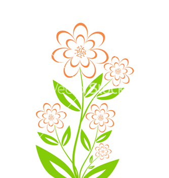 Free bouquet on white vector - Kostenloses vector #243055