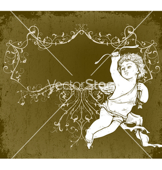 Free angel with frame vector - vector gratuit #243085