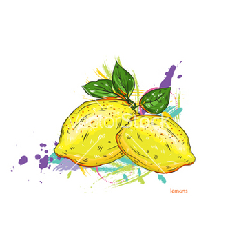 Free lemons with colorful splashes vector - Free vector #243165
