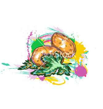 Free vegetables with grunge vector - Free vector #243195