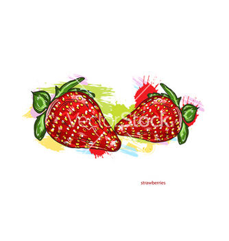 Free strawberries with colorful splashes vector - Free vector #243245