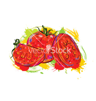 Free vegetables with grunge vector - Free vector #243295