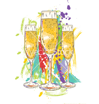Free glasses of champagne vector - vector gratuit #243305