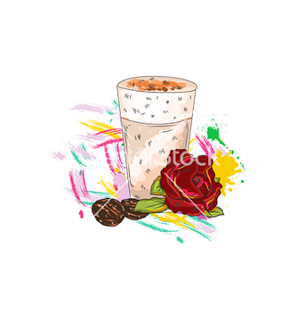 Free rose with colorful splashes vector - Kostenloses vector #243335
