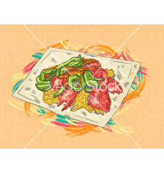 Free cooked food vector - vector gratuit #243345