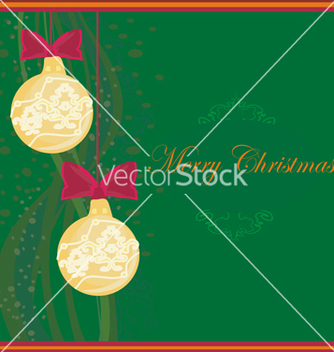 Free christmas framework style card vector - Free vector #243795