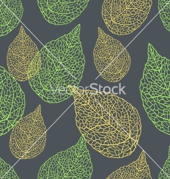 Free leaves seamless stylish pattern vector - Kostenloses vector #243815
