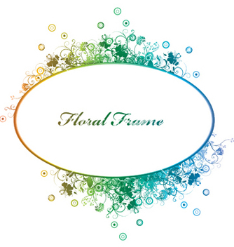 Free floral frame vector - Free vector #243895