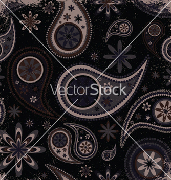 Free vintage grunge paisley wallpaper vector - Free vector #244005