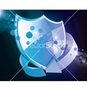 Free shield icon with arrow vector - Kostenloses vector #244015