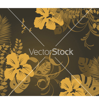 Free summer background with hibiscus vector - Free vector #244245