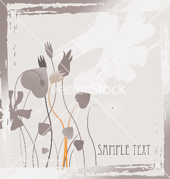 Free floral with grunge vector - Free vector #244285