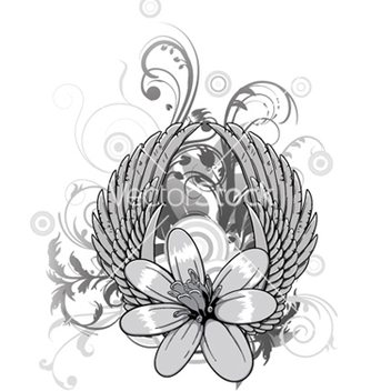 Free spring floral with wings vector - Kostenloses vector #244425