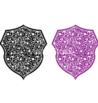 Free shield with floral vector - Kostenloses vector #244505