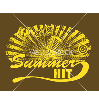 Free music tshirt design with microphone vector - Free vector #244645